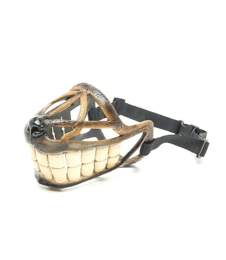 Smile Dog Muzzle, Funny Muzzle with Teeth, Art Muzzle for dogs, best muzzle for Helloween >>> You can get more details here : Dog muzzle