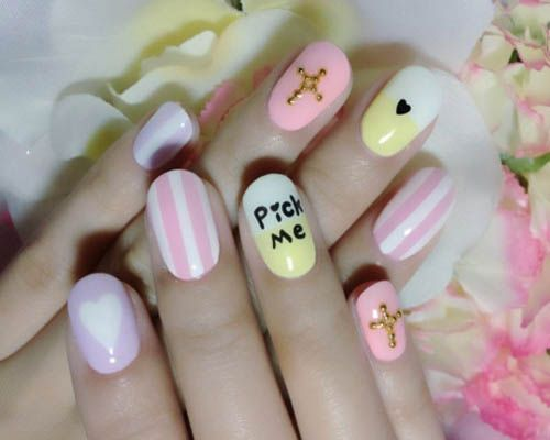 Simple Nail Art Design: Pick Me