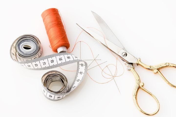 Tape Measure, Scissors
