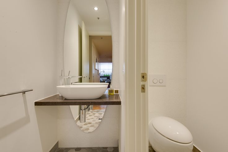Photo Gallery In Website Innovative Design by Bubbles Bathrooms Oval Mirror above and below basin