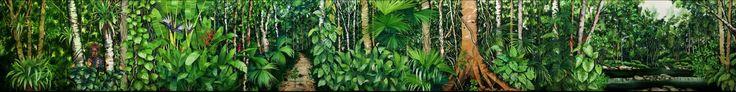 Pachamama es la obra magna del artista Cesar Bertel, una acuarela de 12m de largo con 1.5m de alto es  única en su especia, hecha  por un solo artista en una sola tira de papel es la muestra de locura más lucida de este pintor cartagenero que demuestra  que la acuarela es una técnica válida y vigente pero extremadamente exigente y a la hora de retratar la  exuberancia  de la selva amazónica, ya que es una  técnica que no admite errores y que se conoce a través de la historia por sus pequeños…