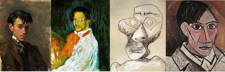 Автопортреты Пикассо в хронологическом порядке