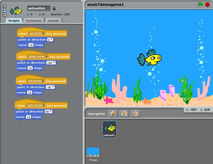 Simple 'Catching' game using Scratch Art creation of