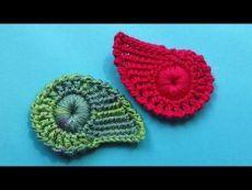 Crochet foglia modello foglia maglia combinato uncinetto Lezione 335
