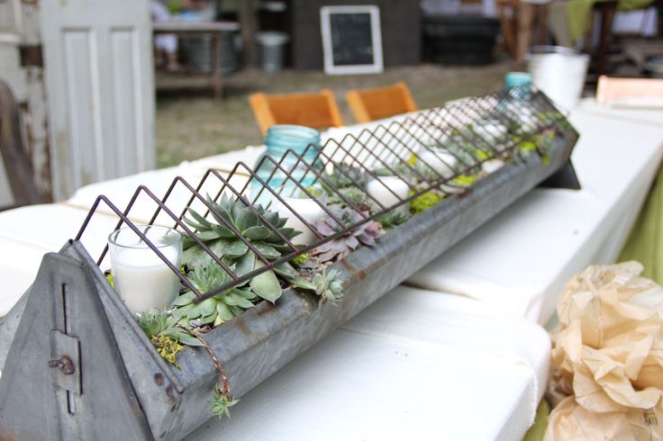 Re-purposed chicken feeder from A Summerthyme*Chic Boutique