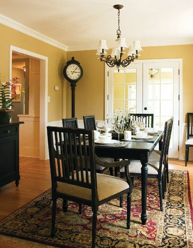 131 best images about french blue white yellow red for Traditional dining room color ideas