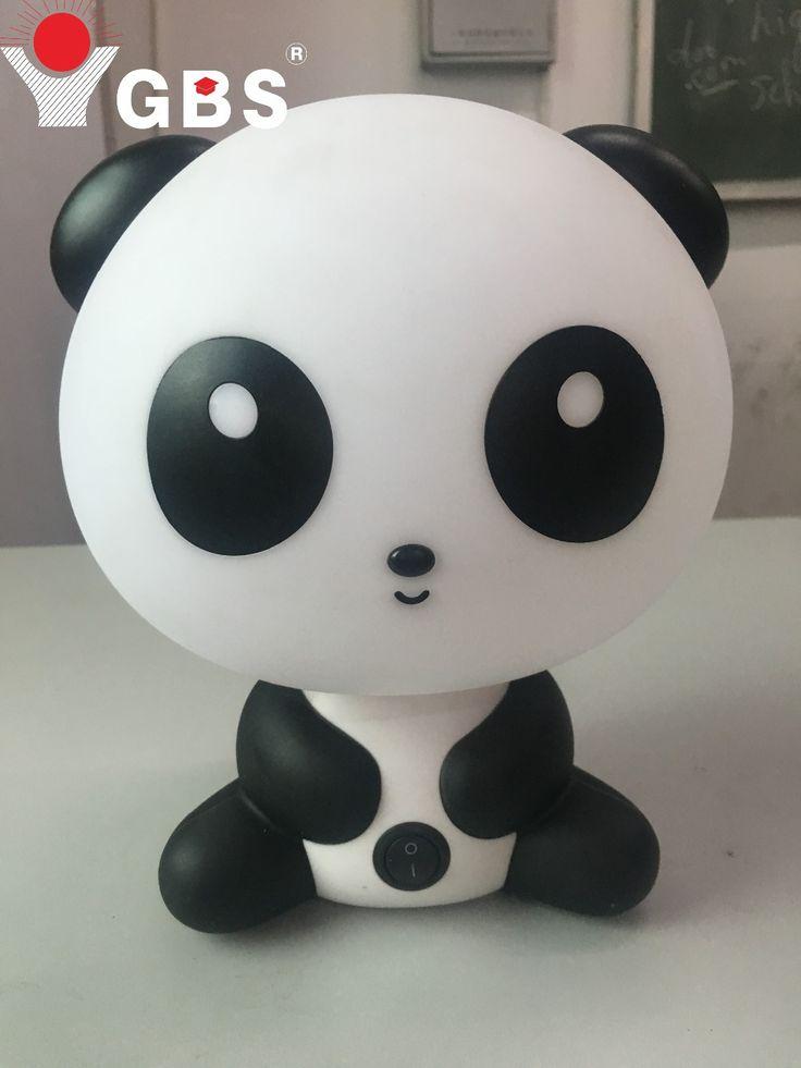 ЕС Plug Новый Cute Panda Мультфильм Настольная Лампа Животных ПРИВЕЛО Ночь лампы Животных Настольные Светильники Для Детской Комнаты Кабинет AC 90-260 В