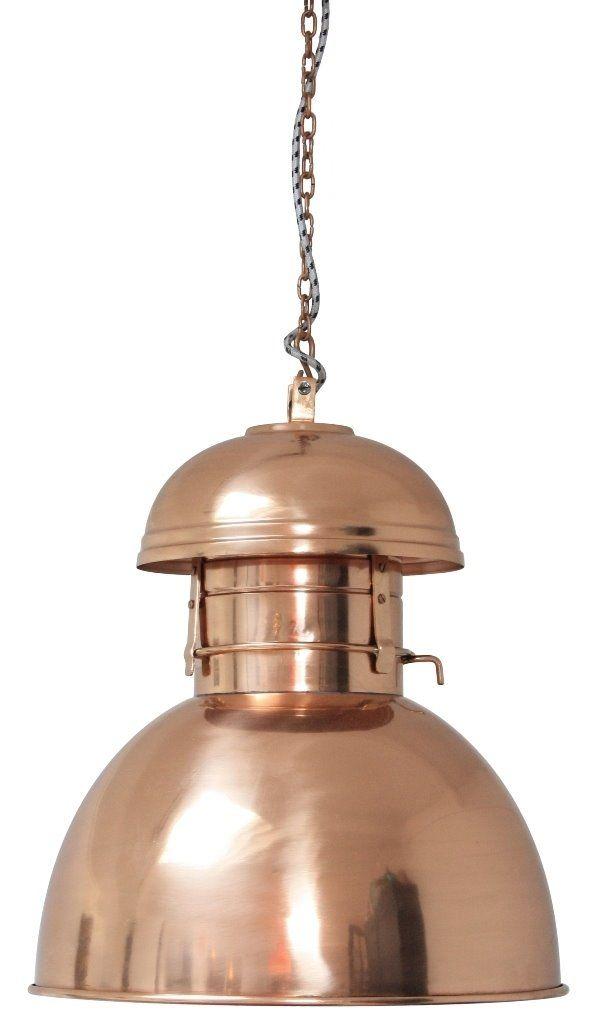 HK Living Lampa Wisząca Warehouse L Miedziana VAA1044 : Oświetlenie industrialne : Sklep internetowy Elektromag Lighting #copper #lamp