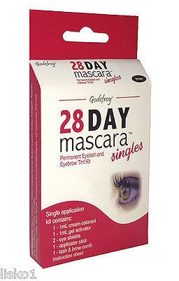 GODEFROY Singles 28 DAY MASCARA PERMANENT EYELASH TINT KIT COLOR (Brown)