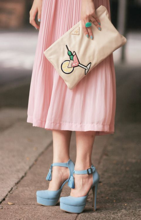 Prada + pastels, also any situation featuring a martini glass gets my vote