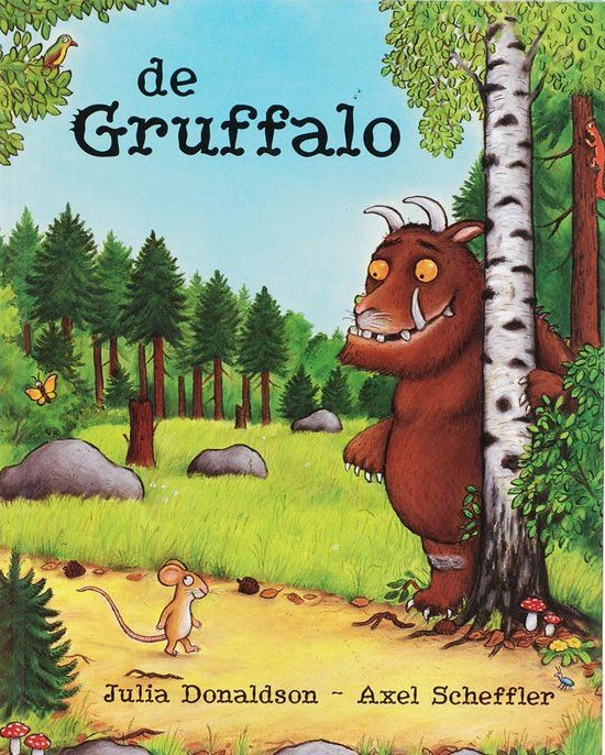 De Gruffalo | The boys love this book about a very smart little mouse. The story is told in rhymes and done so well. Age: starting from 2,5 / 3 years