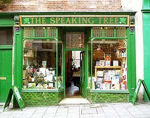 Speaking Tree book shop, in Glastonbury.
