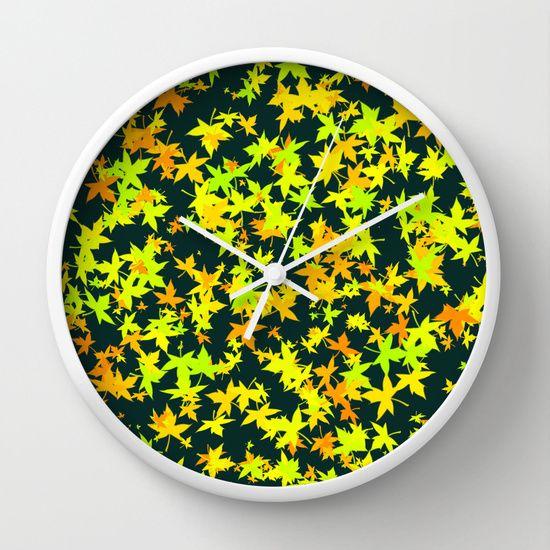 Wall Clock Green leaf wall clock best design ideas #Green leaf #wallclock #walldecoration #homedecoration #bedroomdecoration #offer #sales #cheapsales #birthdaygift #Christmasgift #clock #society6