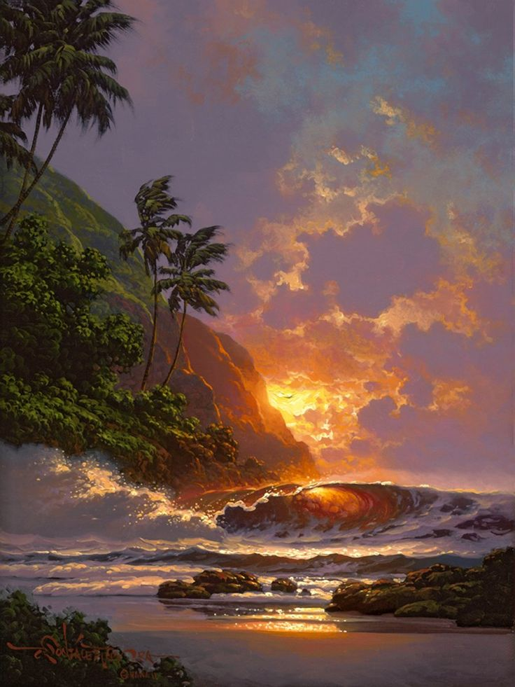 hawaiian artists paintings | Roy Tabora | Symphony of the Sea | Tutt'Art@ | Pittura * Scultura ...