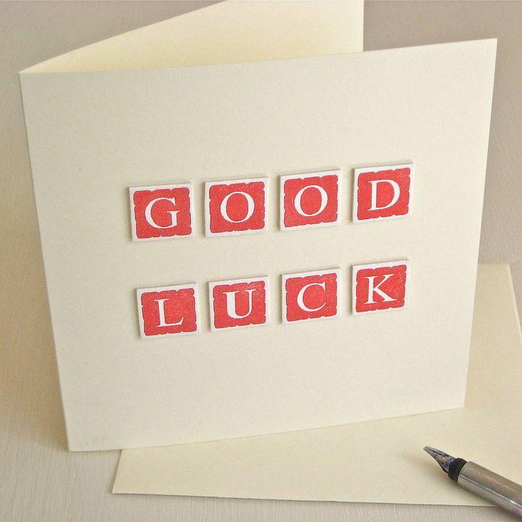handmade good luck card by chapel cards | notonthehighstreet.com
