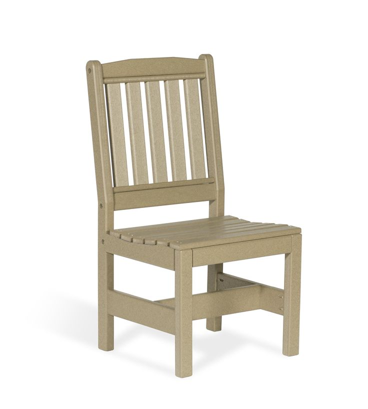 Leisure Lawns Amish Made Recycled Plastic Garden Chair w/out Arms Model  #920S
