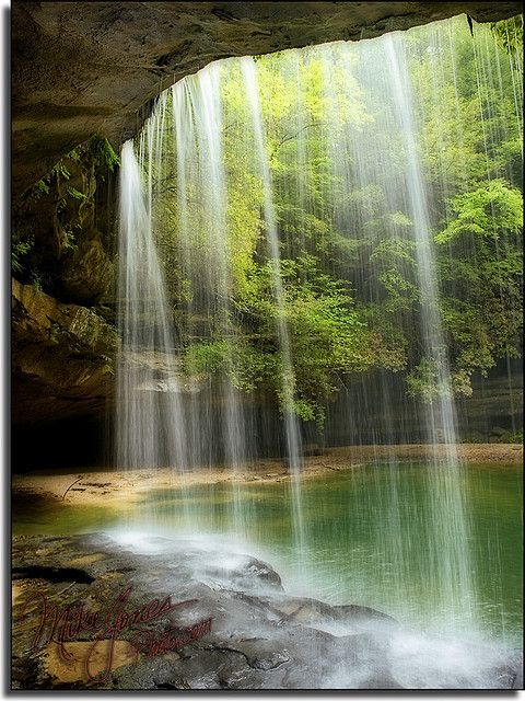 Behind Upper Caney Creek Falls - Alabama