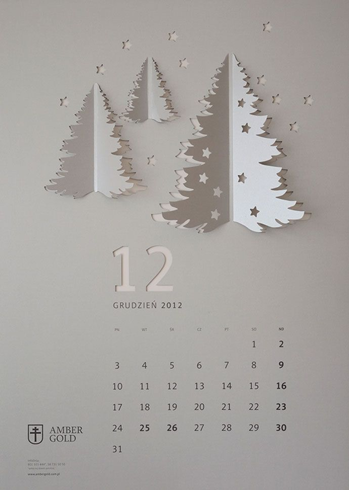 CUT OUT / wall calendar by TOFU STUDIO