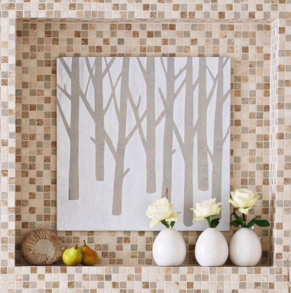 Diy tree wall art colorful interior designs and decor for Diy tree wall art