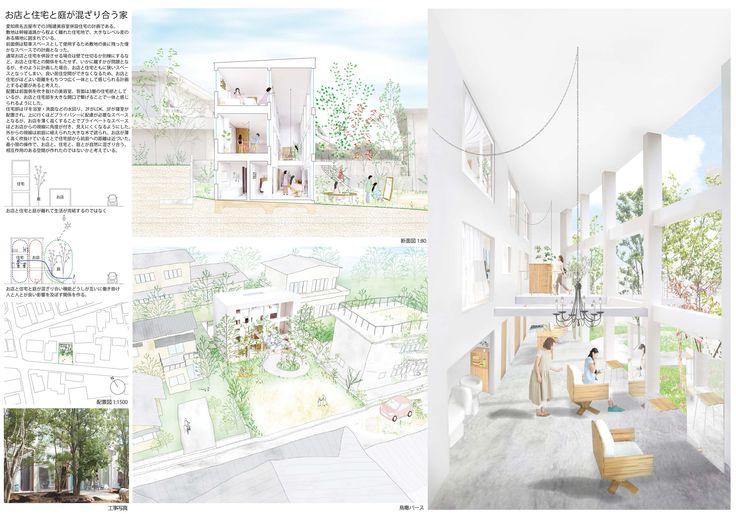お店と住宅と庭が混ざり合う家 オープンハウス