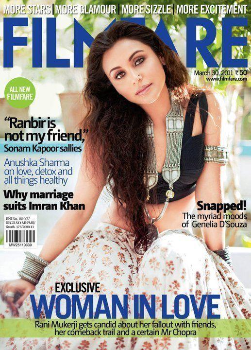 Rani Mukerji on Filmfare magazine cover