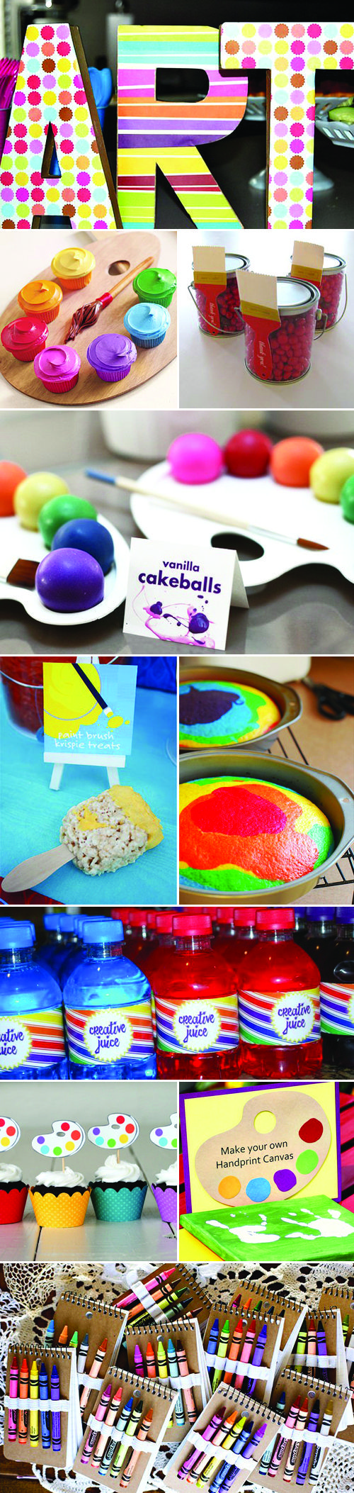 Art Party ... but this site has a bunch of other really cute birthday party ideas.