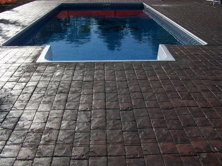 Swimming Pool Sidewalks : Images about concrete stamped sidewalks and