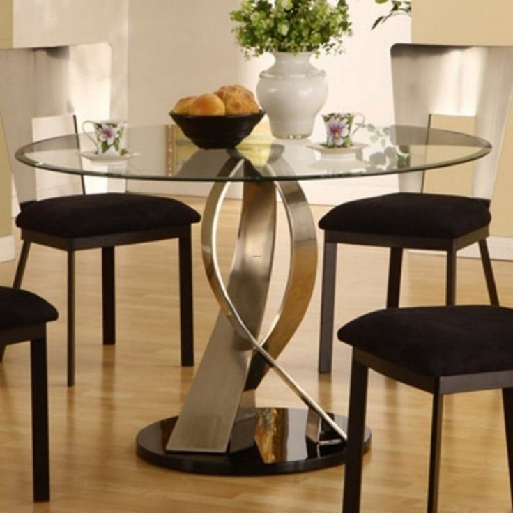 Round Kitchen Table With Glass Top