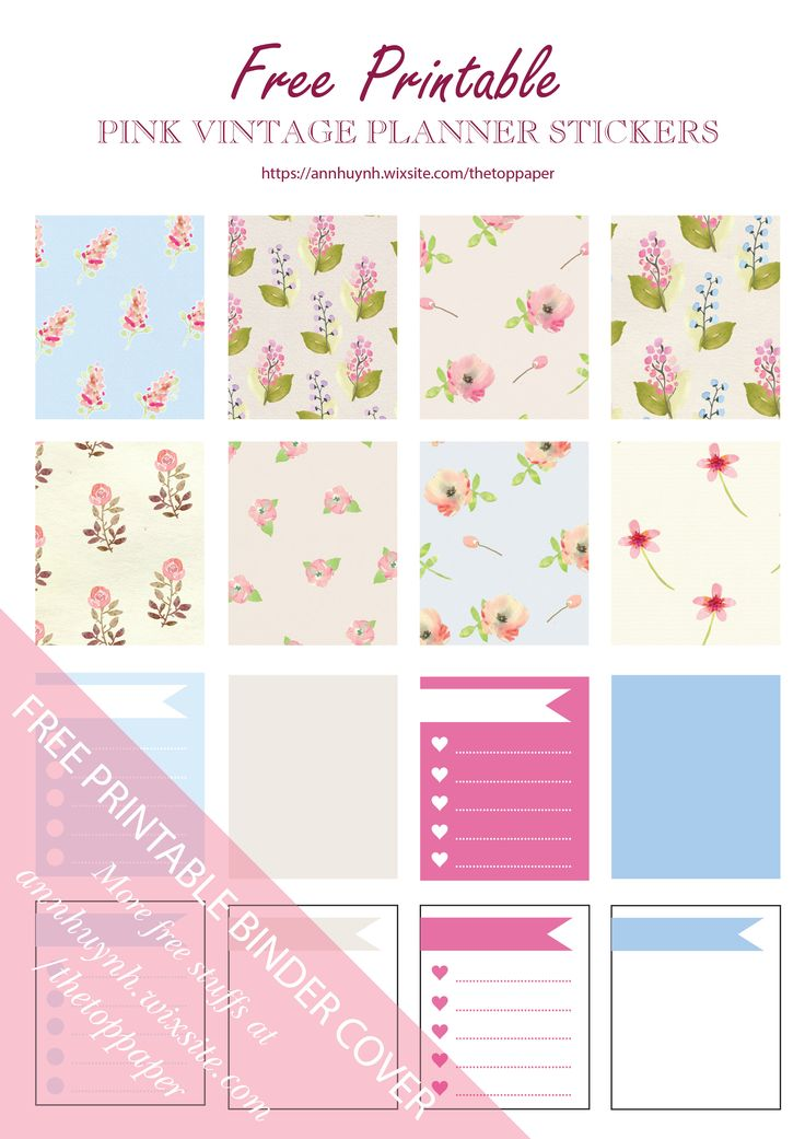 Free Printable Wild Flower Planner Stickers from The Top Paper