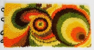 A Stunning Original Vintage 1970s Fabric Wall Hanging *Perfect Condition*   eBay - latch rug!!