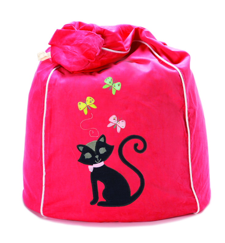 Black Cat Kitty Kat bean bag, super cute in watermelon. http://www.cocooncouture.com/