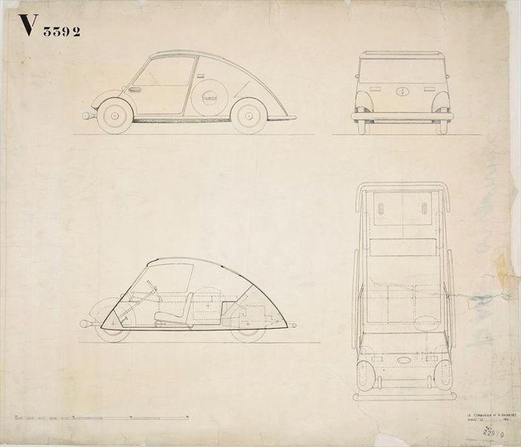 "Ле Корбюзье (Le Corbusier), Пьер Жаннере (Pierre Jeannere). Концепция автомобиля ""maximum"". 1928-1936"