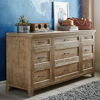 Hampton 9-Drawer Dresser | In Dark Espresso or Classic Bed + 9 Drawer Dresser (size: Full color: Dark Espresso)