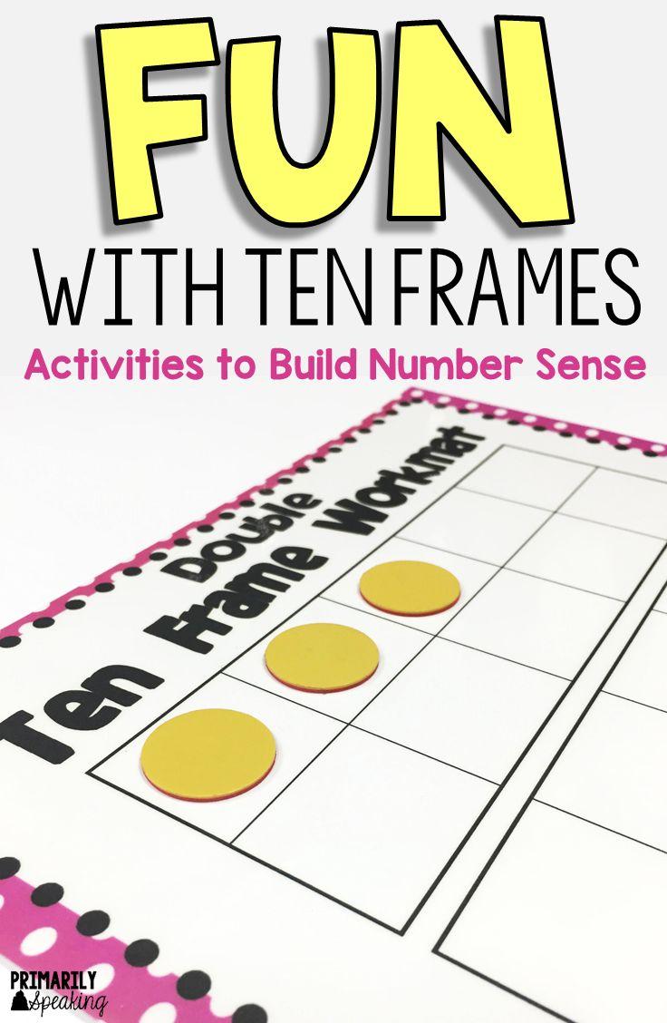 Fun With Ten Frames Ten Frames Math And Math Intervention