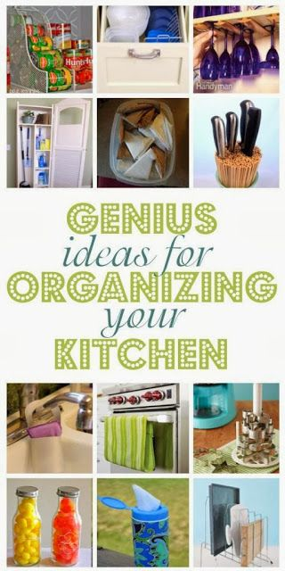 Get your smart on- check out these 12 Genius Ideas & Clever tips For Organizing Your Kitchen and Cleaning Tips..#diy, #kitchen, #organization