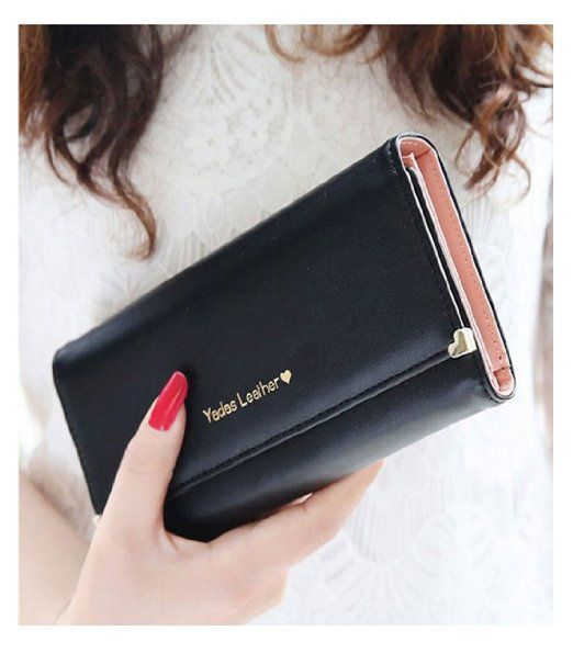Bekijk alle stijlvolle iPhone hoesjes - #leather iphone case and card holder | Ranboo Multifunctional well made fashion woman's PU Leather wallet purse with card slot cellphone case bag for iphone 6s 6plus 5S 5C 4S Samsung Galaxy Note 5 note 4 S5 S6 + 2 in 1 stylus pen (Black) - http://www.ledereniphonehoesjes.nl/slimme-iphone-6-hoesjes/