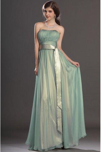 Zamést vlak Jablko Skládaný živůtek Elegantní Společenské šaty - Strana 1