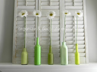 recycled bottles - add lilies for Easter