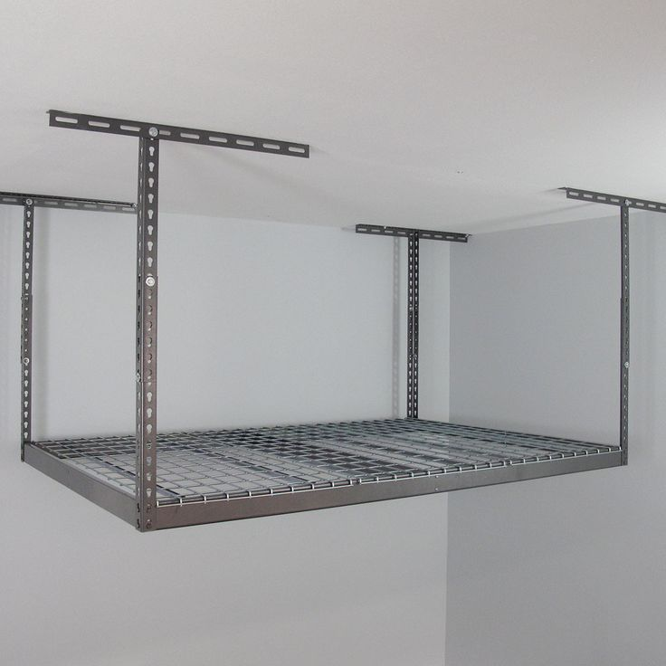 Make garage storage simple with this overhead storage rack. The racks come in different sizes giving you a variety of heights for whatever you need. Give yourself up to 90 cubic feet of storage with a 500 pound capacity.