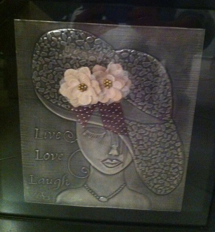 Lady with hat in Pewter by Lolita R