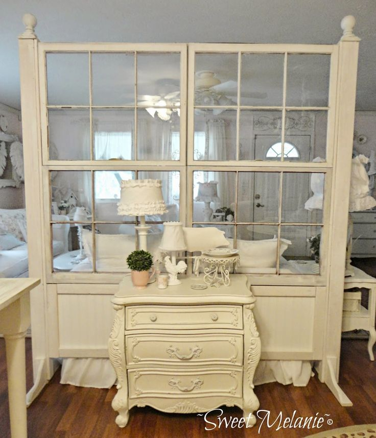 ~Sweet Melanie~: Building a Window Wall. This is EXACTLY what I want to do to separate my dining table from my craft work area in the kitchen. LOVE!