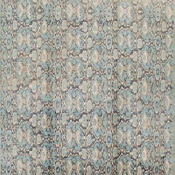 RugKnots teal rug 600x via Yasmin Chopin Interior Design