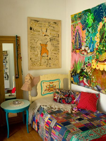 home of artist Consuelo Vidal via Casa Chaucha