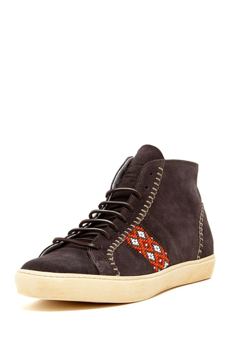 Del Bello Mid Sneaker in talpa by PdO (Pantofola d'Oro Italy) $355 - $149 @HauteLook. - Round toe - Lace-up - Beaded tribal side detail - Suede construction - Made in Italy - Suede upper, manmade sole