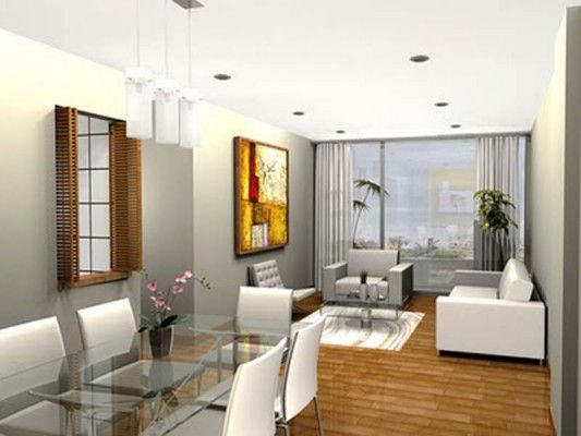 Decoracion de interiores salas en espacios peque os - Comedor pequeno decoracion ...