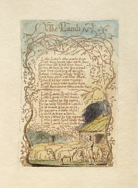 """John Tavener's choral arrangement of William Blake's """"The Lamb"""" from his collection Songs of Innocence and of Experience - Wikipedia, the free encyclopedia"""