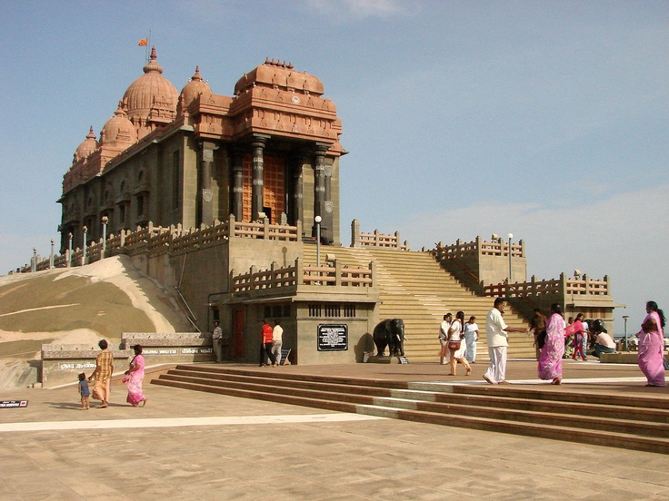 Vivekananda Temple, on Vivekananda Rock at Kanyakumari, India