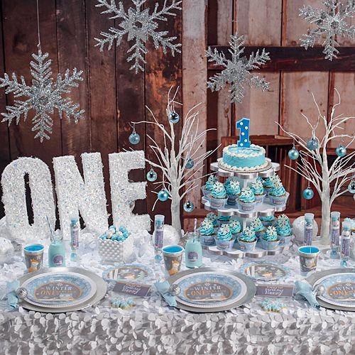Blue Winter Onederland Party Supplies Creating Winter