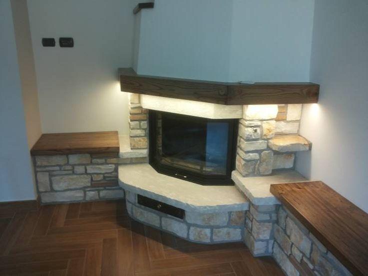 Rivestimento In Pietra Dwg : Risultati immagini per camino angolare dwg wood fire fireplace