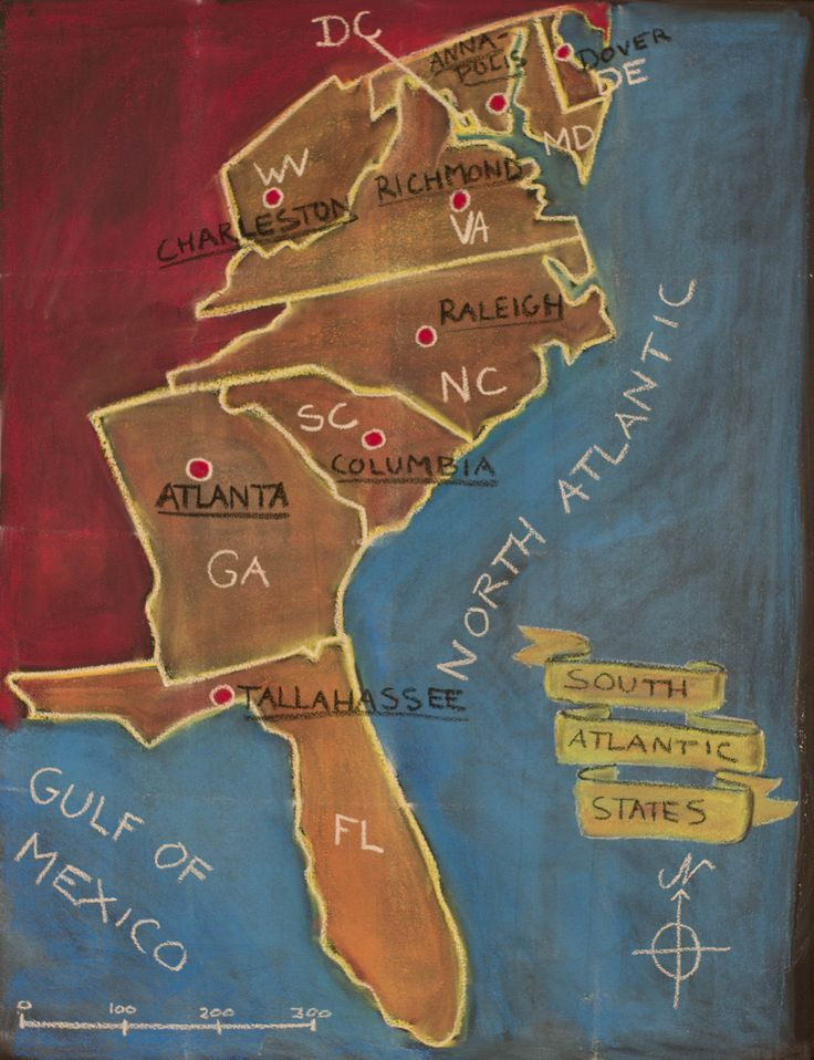 5th Grade US Geography South Atlantic States